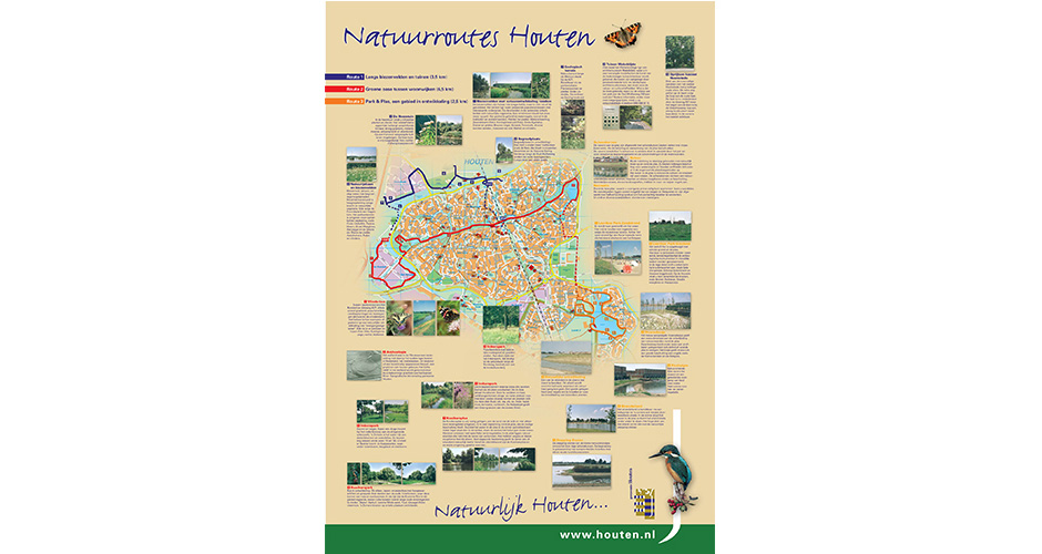 Poster Natuurroutes